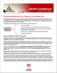 The Reschini Group HCR Reporting Requirements for Employers and Health Plans